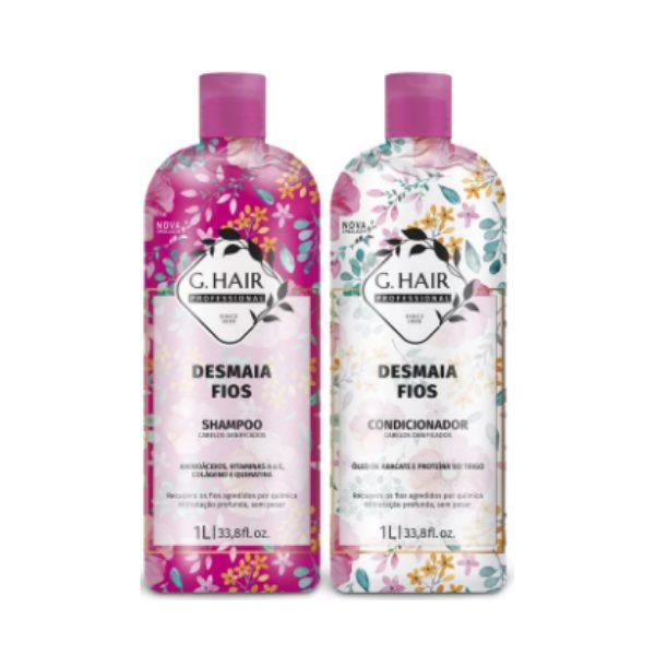 G.Hair, Desmaia Fios, Shampoo + Conditioner 2x1L