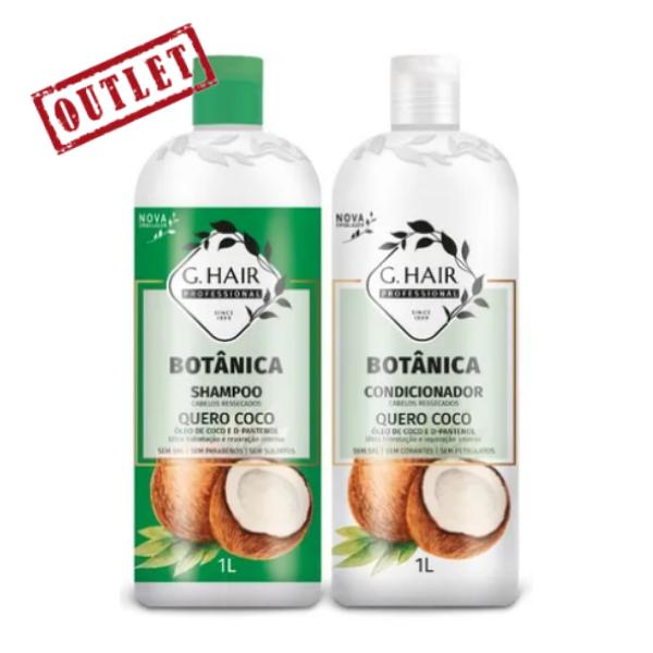 G.Hair, Quero Côco Kit (Shampoo + Conditioner), 2x1L