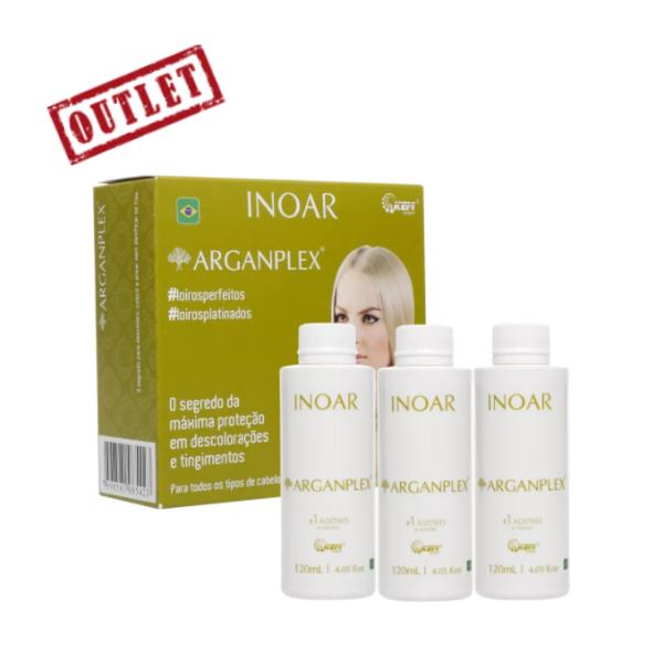Inoar, Argan Oil System Arganplex Trio Kit, 3x120ml