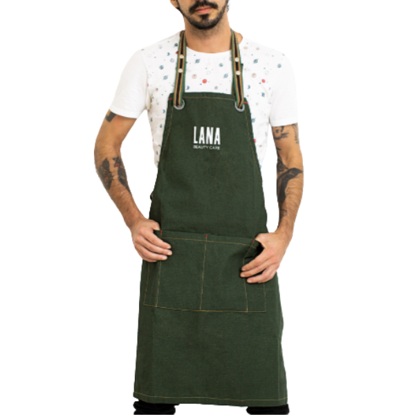 LANA, Avental de lona (verde) 1