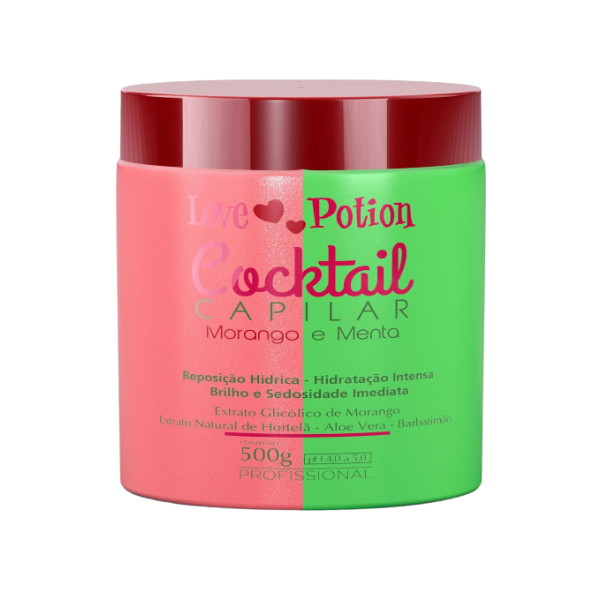 Love Potion, Strawberry and Mint Mask, 500g
